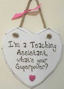TEACHING Assistant Superpower Hanging Heart